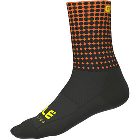 Alé Cycling Dots Sokken 16cm, black-flou orange